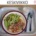 Ruokalistalla porkkanalihalaatikkoa tai soija-porkkanalaatikkoa ja jäävuorisalaattia. Osa koululaisista toivoi, että ruoka valmistettaisiin oman koulun keittiössä – tietämättä, että näin todella tapahtuukin. Myös aromivahvennetta toivottiin vähennettäväksi, vaikka sitä ei välttämättä käytettäisi ollenkaan.