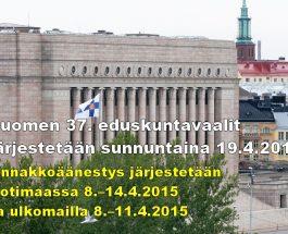 (28.1.2015) Opetusalan osaaja – Oletko ehdolla kansanedustajavaaleissa 2015?