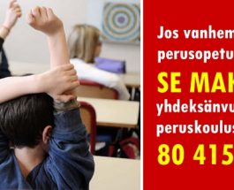 (29.12.2013) Kuntaliiton laskelmien mukaan yhden lapsen kouluvuosi maksaa 8 935 €