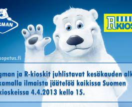 (30.3.2013) Ingman ja R-kioski jakaa ilmaista jäätelöä