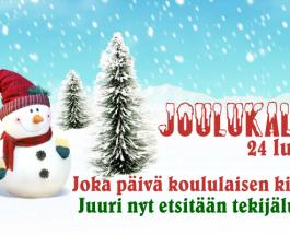 (16.10.2013) Vuoden 2013 joulukalenterin tekijäluokan haku alkanut