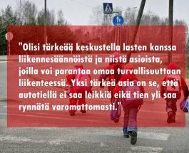 (3.12.2013) Pikkutyttö jäi auton alle Rovaniemellä – puhukaa lapsille liikenteestä
