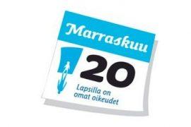 (20.11.2013) Tänään vietetään Lapsen oikeuksien päivää