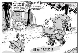 """(13.5.2013) Palkittu opettaja tyrmistyi: """"Antti Korhosta jahdataan"""""""